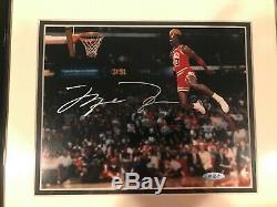 Michael Jordan Signed Autographed 8x10 Framed 88 Slam Dunk Photo UDA Upper Deck