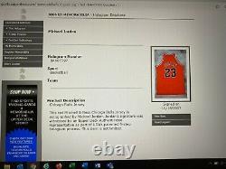Michael Jordan Signed Autographed Chicago Bulls Jersey UDA