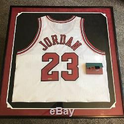 Michael Jordan Signed Autographed Framed Bulls Nike Jersey Upper Deck UDA COA
