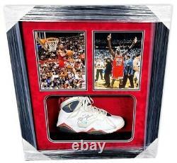 Michael Jordan Signed Autographed Framed Shoe Photo Chicago Bulls UDA Upper Deck