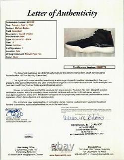 Michael Jordan Signed Autographed Space Jam Jordan 11's Shoes Size 13 UDA & JSA
