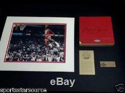 Michael Jordan Signed Autographed UDA COA Chicago Stadium Floor Framed Shadowbox