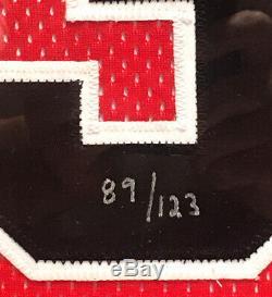 Michael Jordan Signed Career Stat Jersey Chicago Bulls Framed UDA LE 89/123