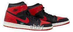 Michael Jordan Signed Chicago Bulls Nike Air Jordan 1 Retros Shoe UDA