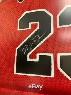Michael Jordan Signed Chicago Bulls Nike Jersey Framed UDA Mr. June 125 of 323