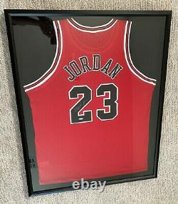 Michael Jordan Signed Chicago Bulls Nike Jersey Framed UDA Upper Deck
