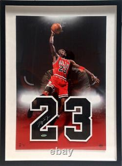 Michael Jordan Signed Framed Jersey Numbers Chicago Bulls UDA Last Dance