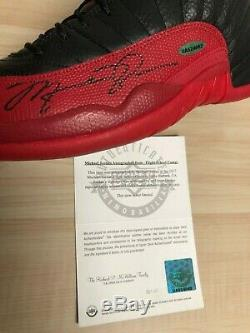 Michael Jordan Signed Jordan 12 Flu Game 2016 UDA size 10.5 Brand NEW