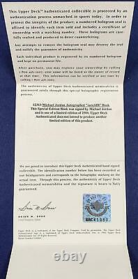 Michael Jordan Signed LE Autograph, 1986 Fleer Rookie Display. Upper Deck UDA