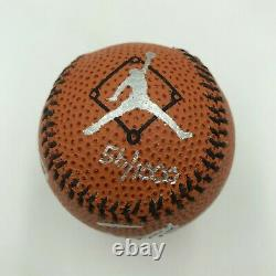 Michael Jordan Signed Nike Basketball Style Baseball UDA Upper Deck Authentic