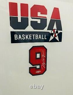 Michael Jordan Signed Olympic Dream Team Jersey #9 UDA COA
