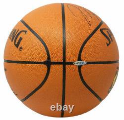 Michael Jordan Signed Spalding Official Basketball withCase UDA BAG55951