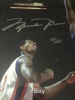 Michael Jordan Signed UDA 16x20 Framed Limited #53/123 First Shot As A Wizard