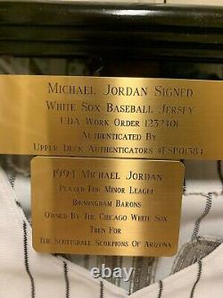 Michael Jordan Signed White Sox #45 Jersey UDA ESP01384
