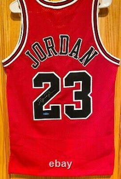 Michael Jordan UDA Autographed Jersey Rare Red Nike Stitched Upper Deck COA