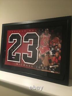 Michael Jordan UDA NBA Chicago Bulls Framed Auto Jersey Number with Upper Deck COA