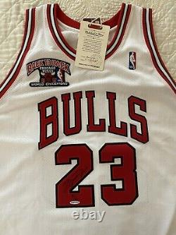 Michael Jordan UDA Upper Deck /23 Autographed Signed Mitchell Ness Jersey Auto