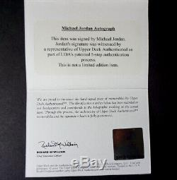 Michael Jordan UDA Upper Deck Chicago Bulls Autographed Red Jersey Framed COA