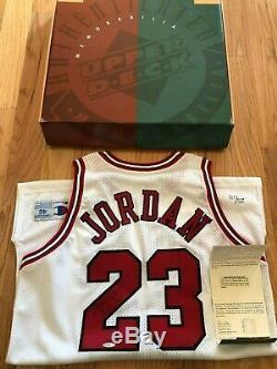 Michael Jordan UDA Upper Deck Signed Autograph 11/1/94 Retirement Jersey 25/111