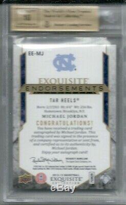 Michael Jordan UD Exquisite BGS 9.510 Autograph d#84/99 1984 ROOKIE SP UDA AUTO