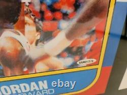 Michael Jordan Upper Deck Signed 1986 Fleer Rookie RC Blowup Card UDA Auto 13x17