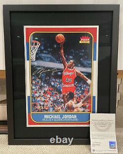 Michael Jordan Upper Deck Signed 1986 Fleer Rookie RC Blowup Card UDA Auto RARE