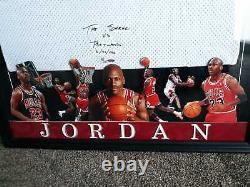 Michael Jordan Upper Deck Uda Signed Chicago Bulls Framed Jersey Le /23