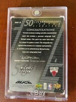 Michael Jordan Upperdeck Black UDA Auto One of only 50