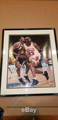 Michael Jordan VS Kobe Bryant UDA Upper Deck 16x20 Dual Auto Signed #112/200 COA