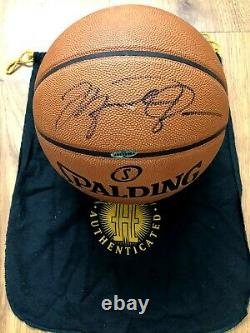 Michael Jordan autographed signed Spalding NBA game model leather basketball UDA