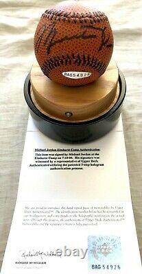 Michael Jordan autographed signed UDA Nike Jumpman baseball basketball with case
