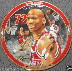 Michael Jordan signed autographed autograph UDA 1995 1996 Bulls 72 Wins plate MT