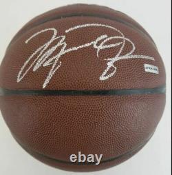 Michael Jordan twice 2sigs Signed Jordan Brand XX2 Basketball JSA LOA & UDA COA