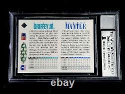 Mickey Mantle & Ken Griffey Jr Dual Signed 1994 Upper Deck Uda Card Auto Beckett