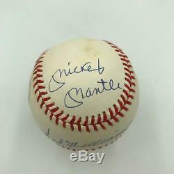 Mickey Mantle Ted Williams Carl Yastrzemski Triple Crown Signed Baseball UDA COA