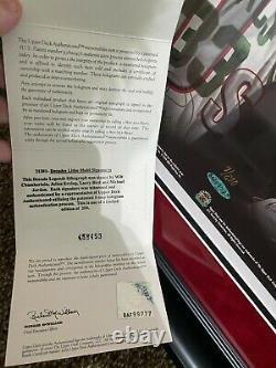 NBA Decade Legends Signed 20x24 Framed Michael Jordan Wilt Chamberlain UDA COA