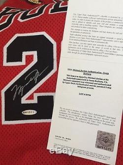 Nike 1998 Nba Finals Michael Jordan Bulls Pro Cut Jersey Autograph Signed Uda