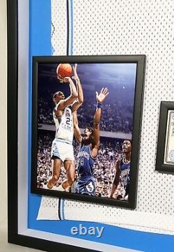 Premium Framed Michael Jordan Signed North Carolina UNC Nike Jersey UDA COA