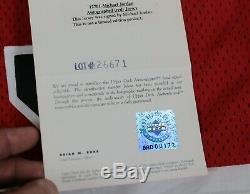 Pristine 96-97 Michael Jordan Autographed UDA Champion Pro-Cut Jersey COA