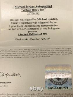 RARE MICHAEL JORDAN Autographed Signed WILSON Black BAT LE 186/500 UDA