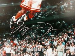 RARE Michael Jordan Mid-Air Slam Limited Edition 16x20 Autographed UDA/COA