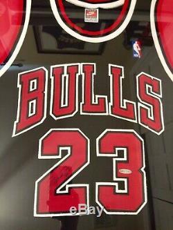 RARE Michael Jordan UDA Signed Auto Framed Authentic Jersey Retirement Season