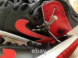 Signed 2000 Nike Air Jordan 1 High Banned 1985 Rookie Retro Shoes Autograph Uda