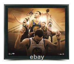 Stephen Curry Autographed 20X24 Framed Photo Golden State Warriors /50 UDA