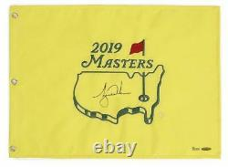 TIGER WOODS Autographed 2019 The Masters Pin Flag UDA LE 1000