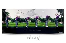 TIGER WOODS Autographed Art of the Swing Panoramic UDA LE 250