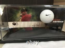 Tiger Woods Autographed Range Driven Le /500 Display Uda! Goat