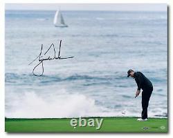 Tiger Woods Signed Autographed 16X20 Photo Crashing Waves Pebble Beach UDA