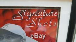 Tiger Woods Signed UDA Framed 16x20 Signature Shots Limited Edition #62/100 RARE