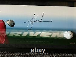Tiger Woods UDA Upper Deck Signed Autograph Breaking Through Photo VERY RARE